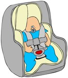 Baby in a carseat