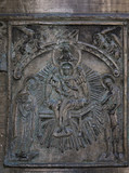 Reliefs on the church bell of St. Sophia Cathedral (Novgorod, Kr