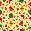 Christmas icons pattern background