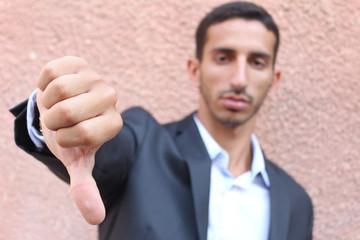 Thumbs down, bad deal symbol