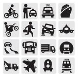 Fototapety transportation icon