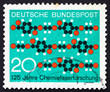 Postage stamp Germany 1971 Molecule Diagram Textile Pattern