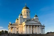 The Helsinki Lutheran Cathedral in evening light, Finland