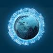 Vernetzte Welt Konzept 3D