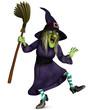 beldame with broom