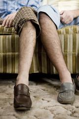 two mens legs