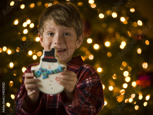boy at christmas