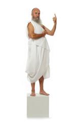 philosophe pensant doigt levé