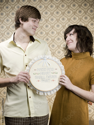 retro young couple