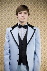 man in retro clothing