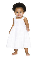 Baby in a white dress