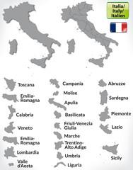 Grenzkarte von Italien