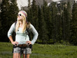 hiker wearing sunglasses
