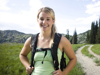 hiker on a mountain path