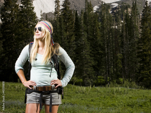 hiker wearing sunglasses
