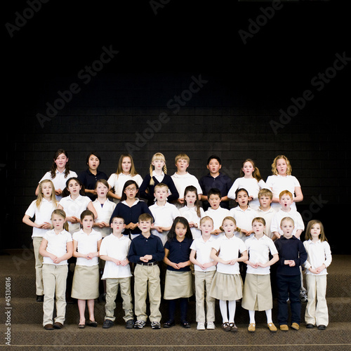children in a choir