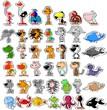 Векторный набор различных симпатичных животных