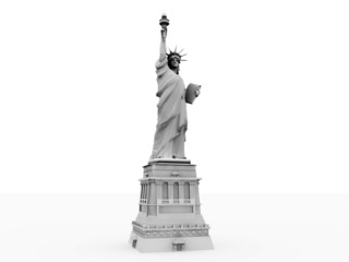 liberty statue in white background