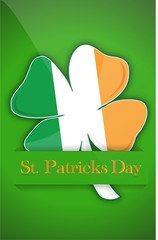 Saint Patricks day Irish clover background card