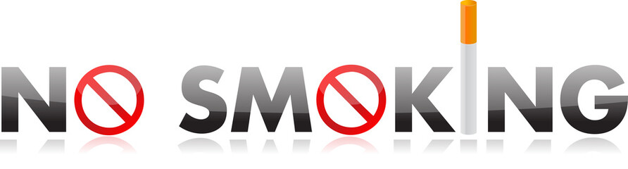 No smoking text illustration design