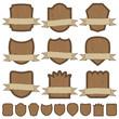 wooden emblems