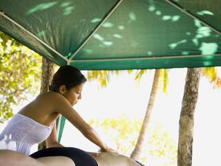 massage on the beach
