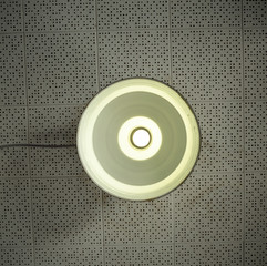 """USA, California, Alcatraz, Close-up on ceiling lamp"""