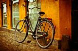 Fototapety Classic vintage retro city bicycle in Copenhagen, Denmark