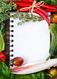 Vegetable notebook.