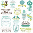 Wedding Vintage Invitation Collection - for design, scrapbook -