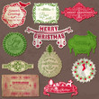 Christmas Calligraphic Design Elements and Vintage Frames - in v