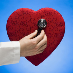 stethoscope on heart