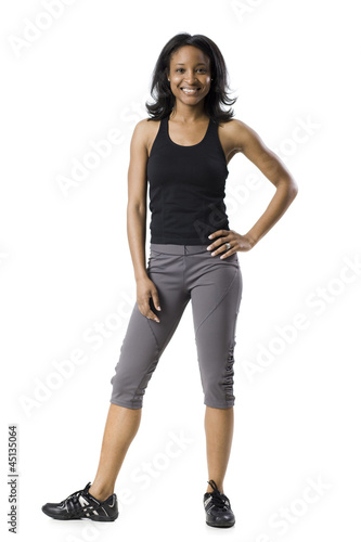 woman in work out clothes