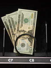 currency in a vending machine