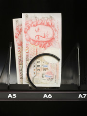 currency in a vending machine