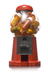 gumball machine full of pills