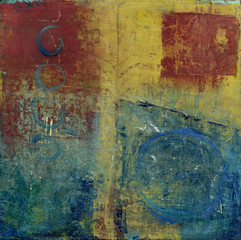 Abstract Red Blue And Yellow