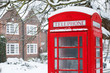 Telephone box with snow - 45137015