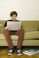 young man in living room