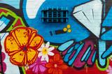 Fototapete Zeichnung - Grossstadtherbst - Graffiti