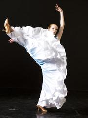 Young woman ballroom dancing