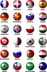 handball ball with flags