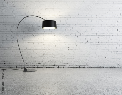 floor lamp in room
