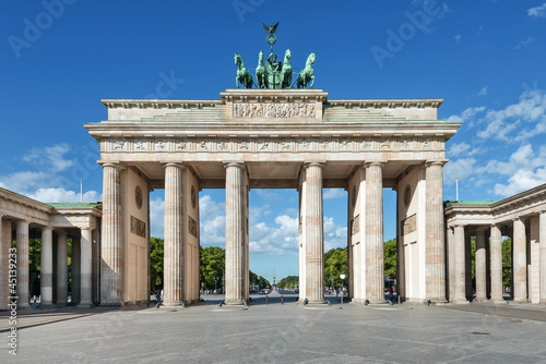 Leinwanddruck Bild Brandenburger Tor, Berlin