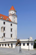 Bratislava castle situated on a plateau above the Danube