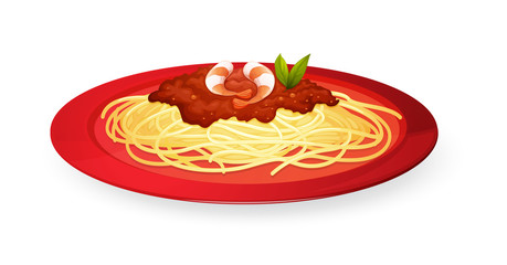noodles in plate