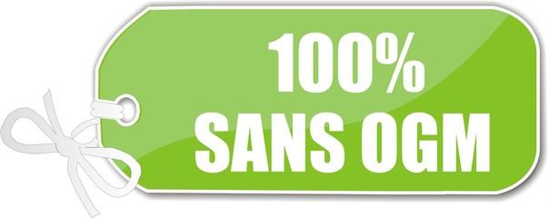 étiquette 100% sans OGM