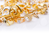 Fototapety Large collection of gold jewellery