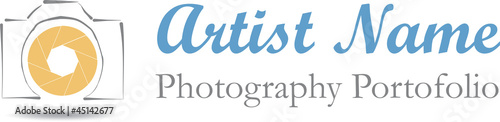 Photographer logo illustration