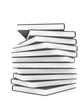 Bücherstapel 3D